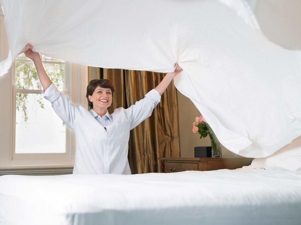 cambio lenzuola letto
